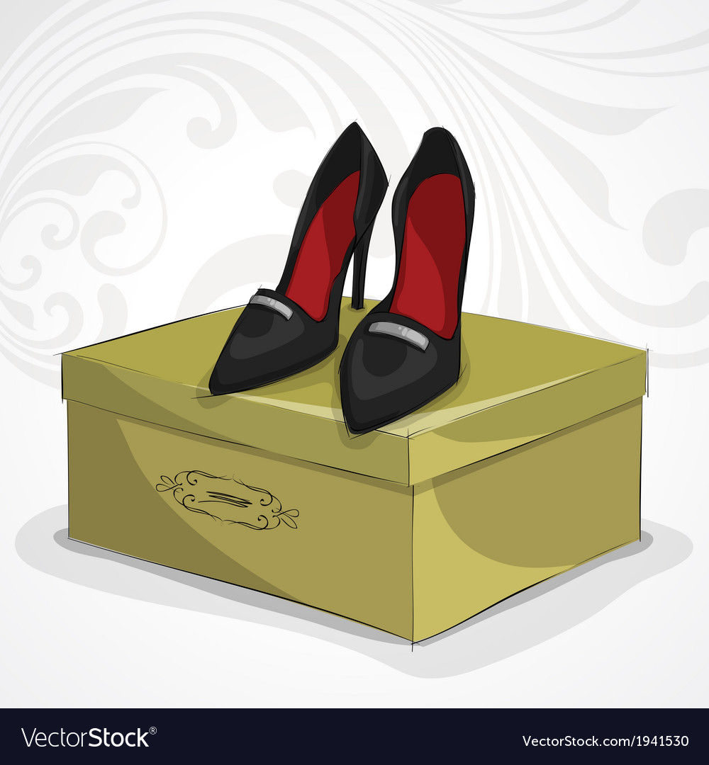 Classic womans leather black shoes vector   Price: 1 Credit (USD $1)