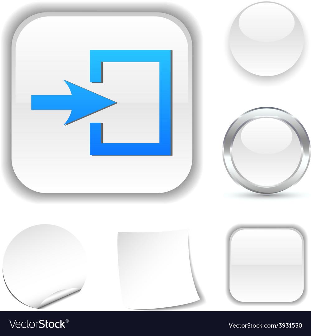 Entrance icon vector | Price: 1 Credit (USD $1)