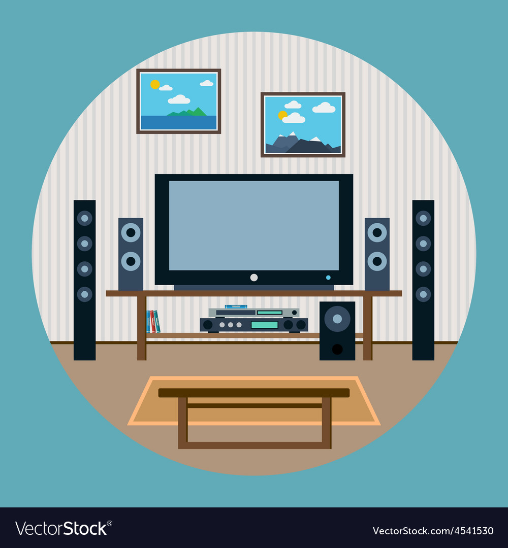 Home theater vector | Price: 1 Credit (USD $1)