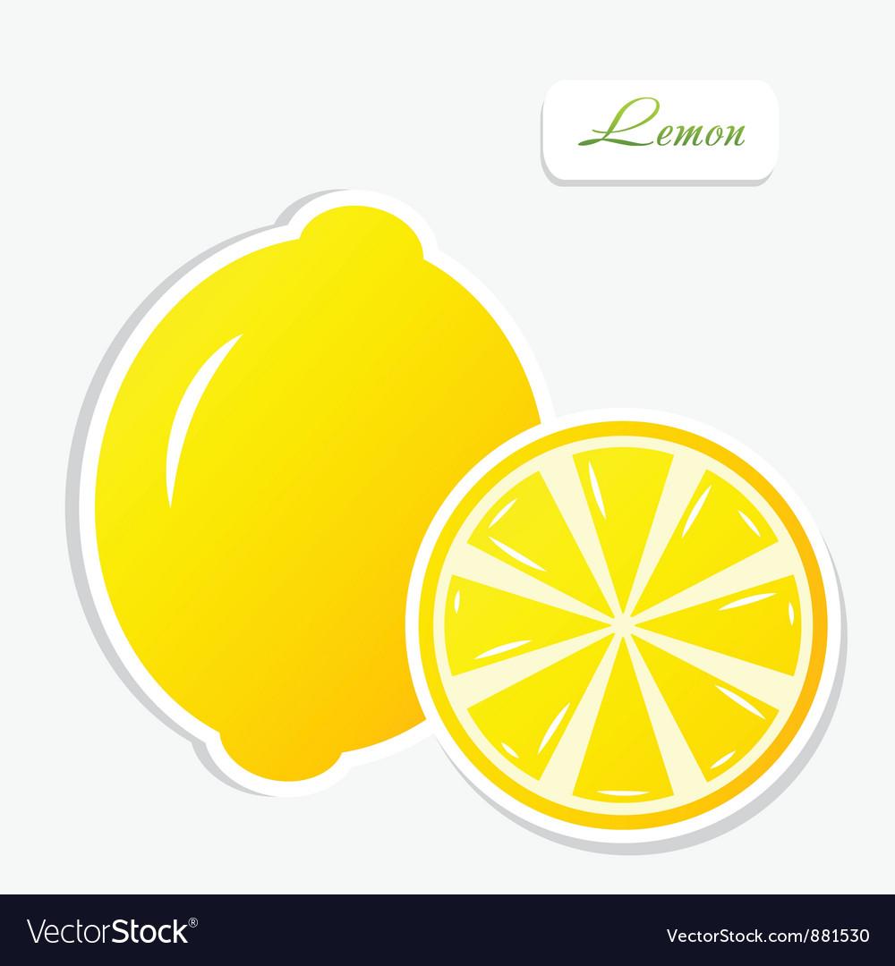 Lemon sticker vector | Price: 1 Credit (USD $1)