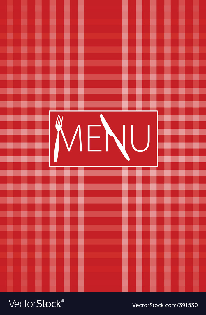 Menu card red gingham vector | Price: 1 Credit (USD $1)