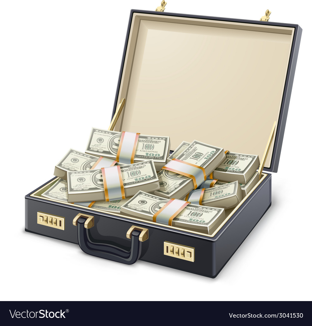Money full of suitcase vector | Price: 3 Credit (USD $3)