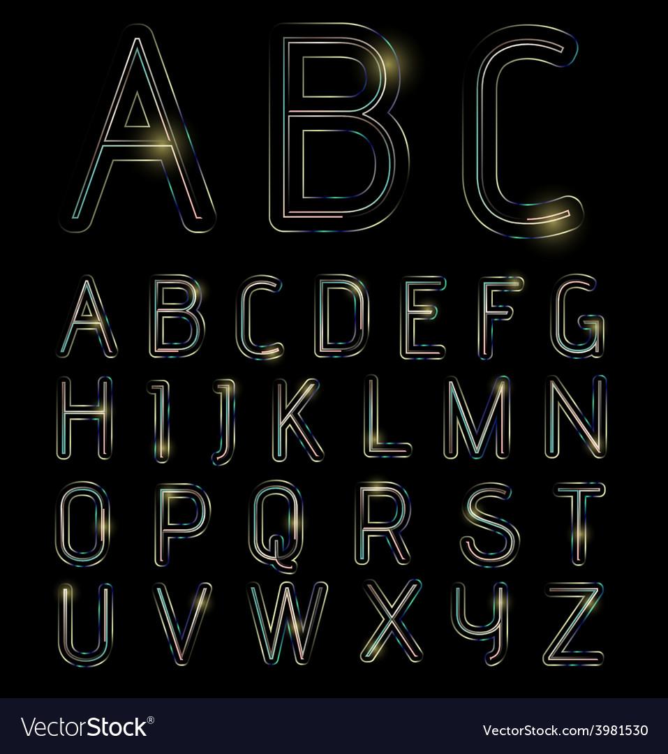 Neon light alphabet vector | Price: 1 Credit (USD $1)
