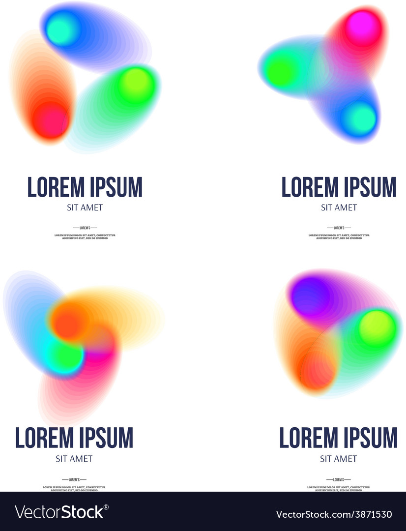 Set of abstract colorful logo design template for vector | Price: 1 Credit (USD $1)