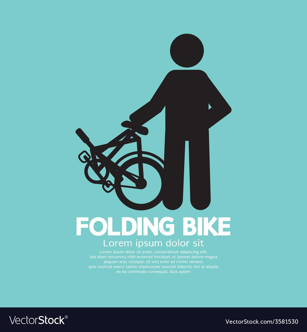 Single folding bike graphic vector | Price: 1 Credit (USD $1)