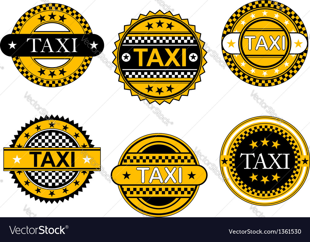 Taxi service emblems and signs vector | Price: 1 Credit (USD $1)