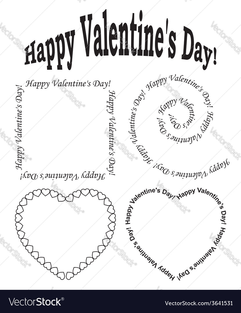 Black elements for valentine day - set vector | Price: 1 Credit (USD $1)
