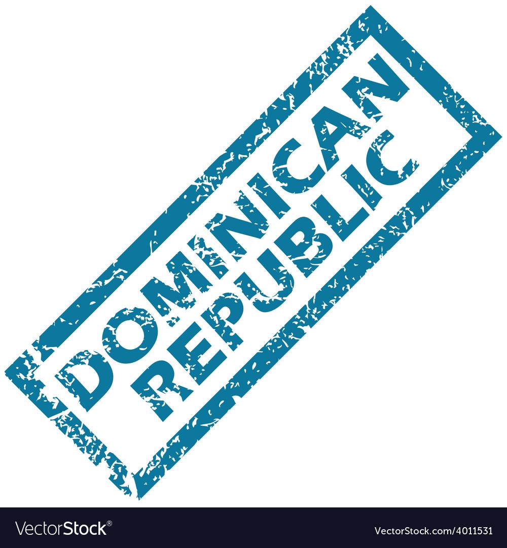 Dominican republic rubber stamp vector | Price: 1 Credit (USD $1)