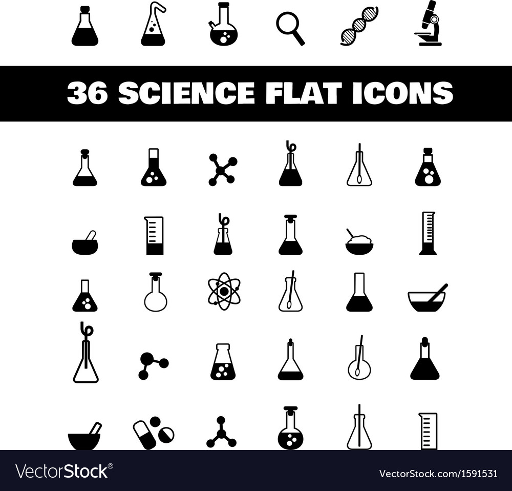 Flat icon science vector | Price: 1 Credit (USD $1)