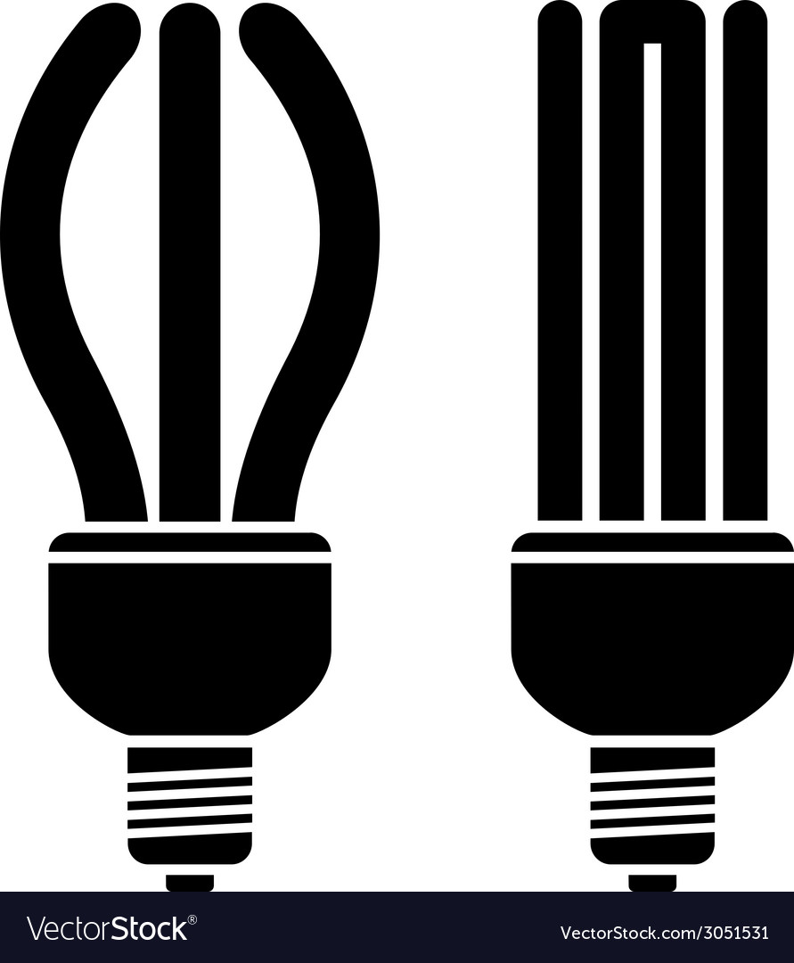 Fluorescent compact bulbs vector | Price: 1 Credit (USD $1)