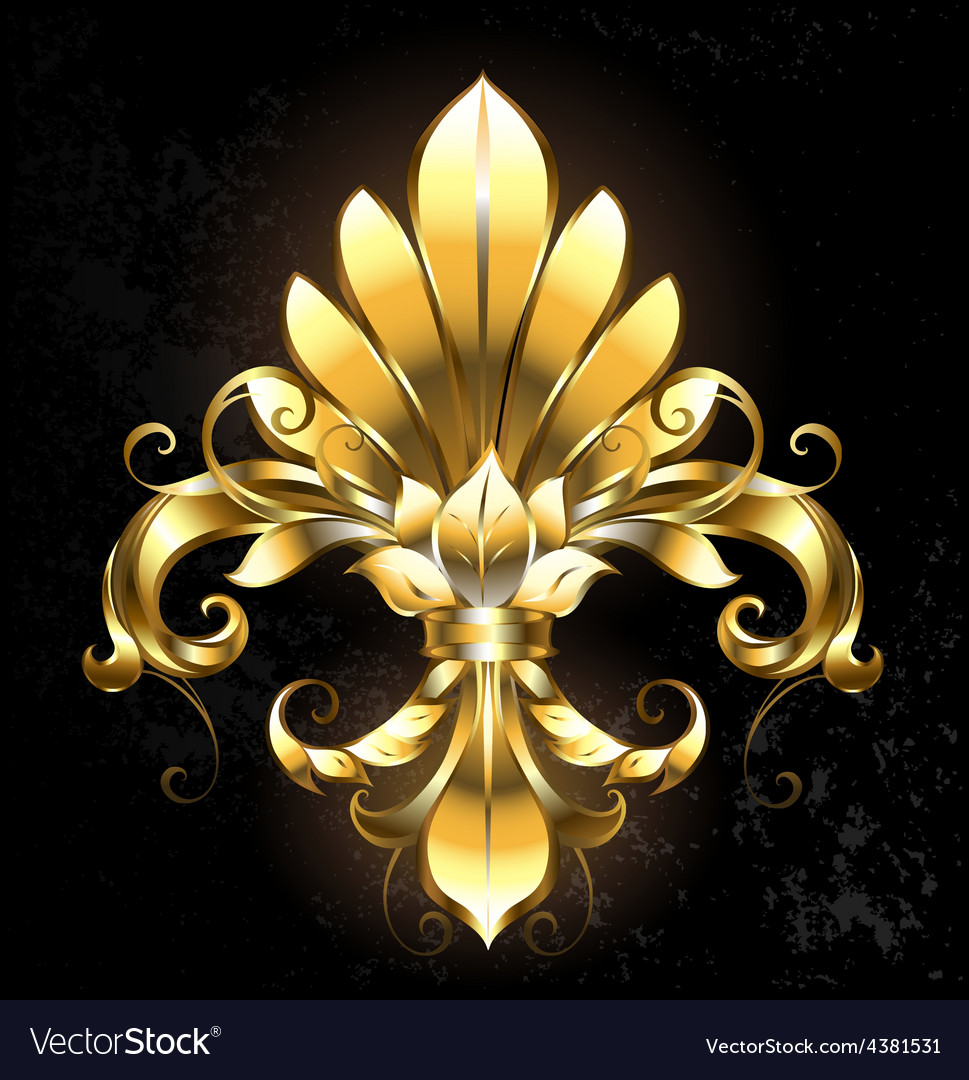 Golden fleur de lis vector | Price: 3 Credit (USD $3)
