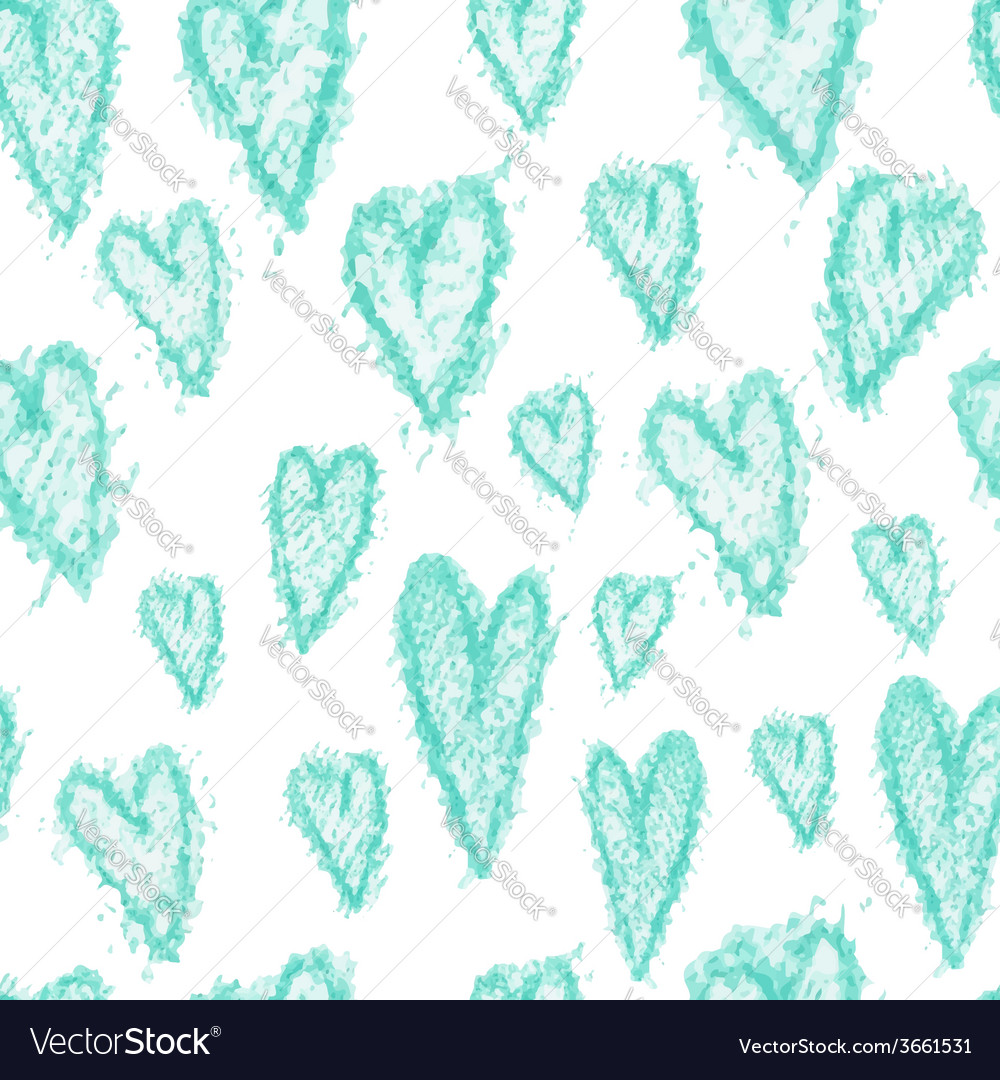 Hand drawn seamless heart pattern vector | Price: 1 Credit (USD $1)