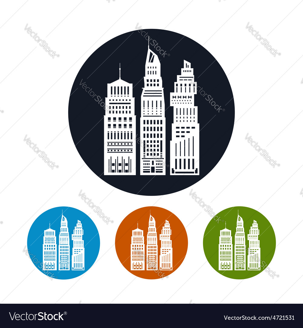 Icon modern big city vector | Price: 1 Credit (USD $1)
