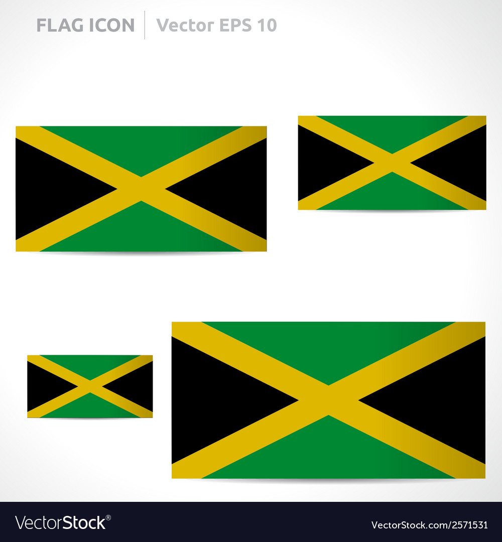 Jamaica flag template vector | Price: 1 Credit (USD $1)
