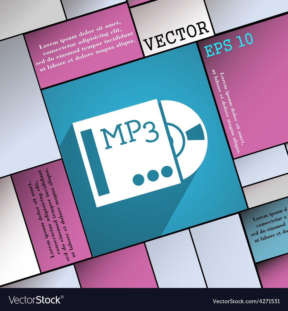 Mp3 player icon symbol flat modern web design with vector | Price: 1 Credit (USD $1)