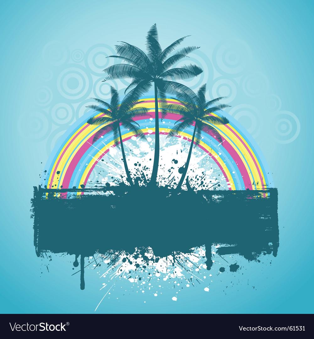 Palm tree grunge vector   Price: 1 Credit (USD $1)