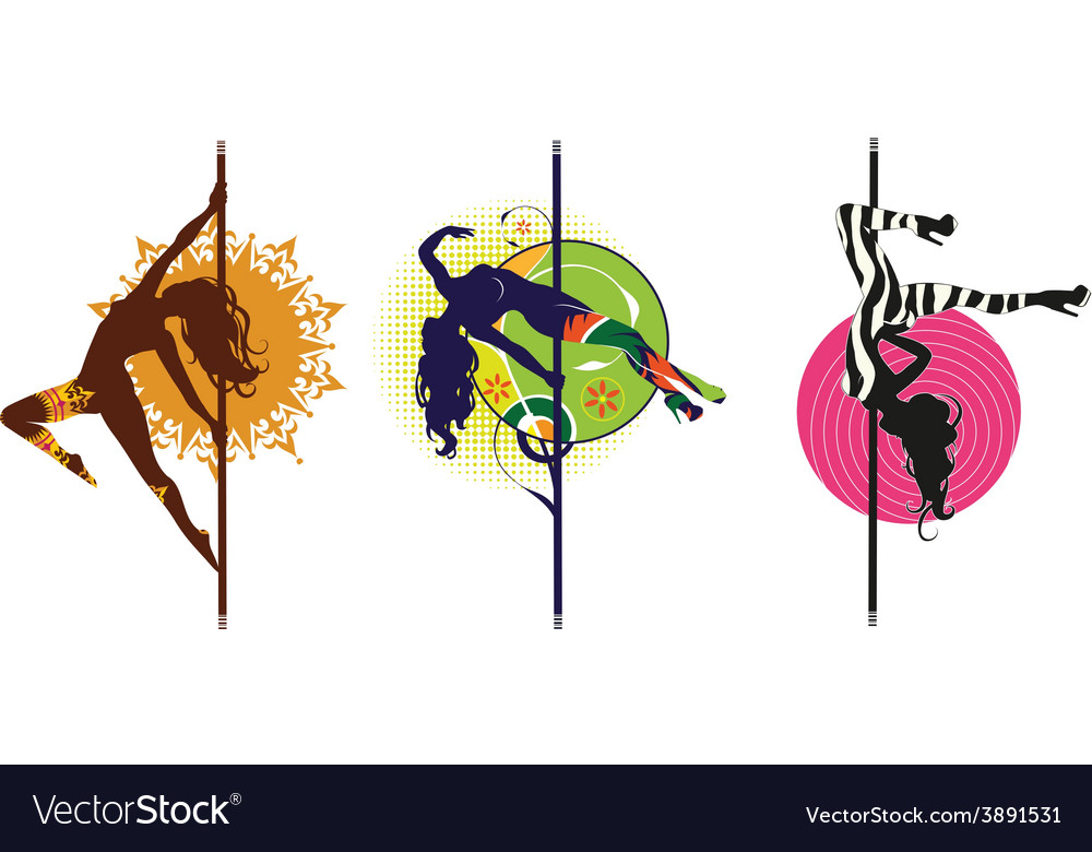 Pole dance logos vector | Price: 1 Credit (USD $1)