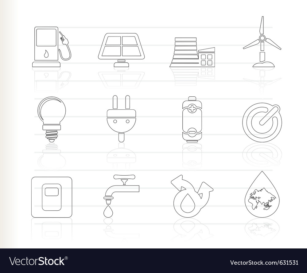 Power and energy icons vector   Price: 1 Credit (USD $1)