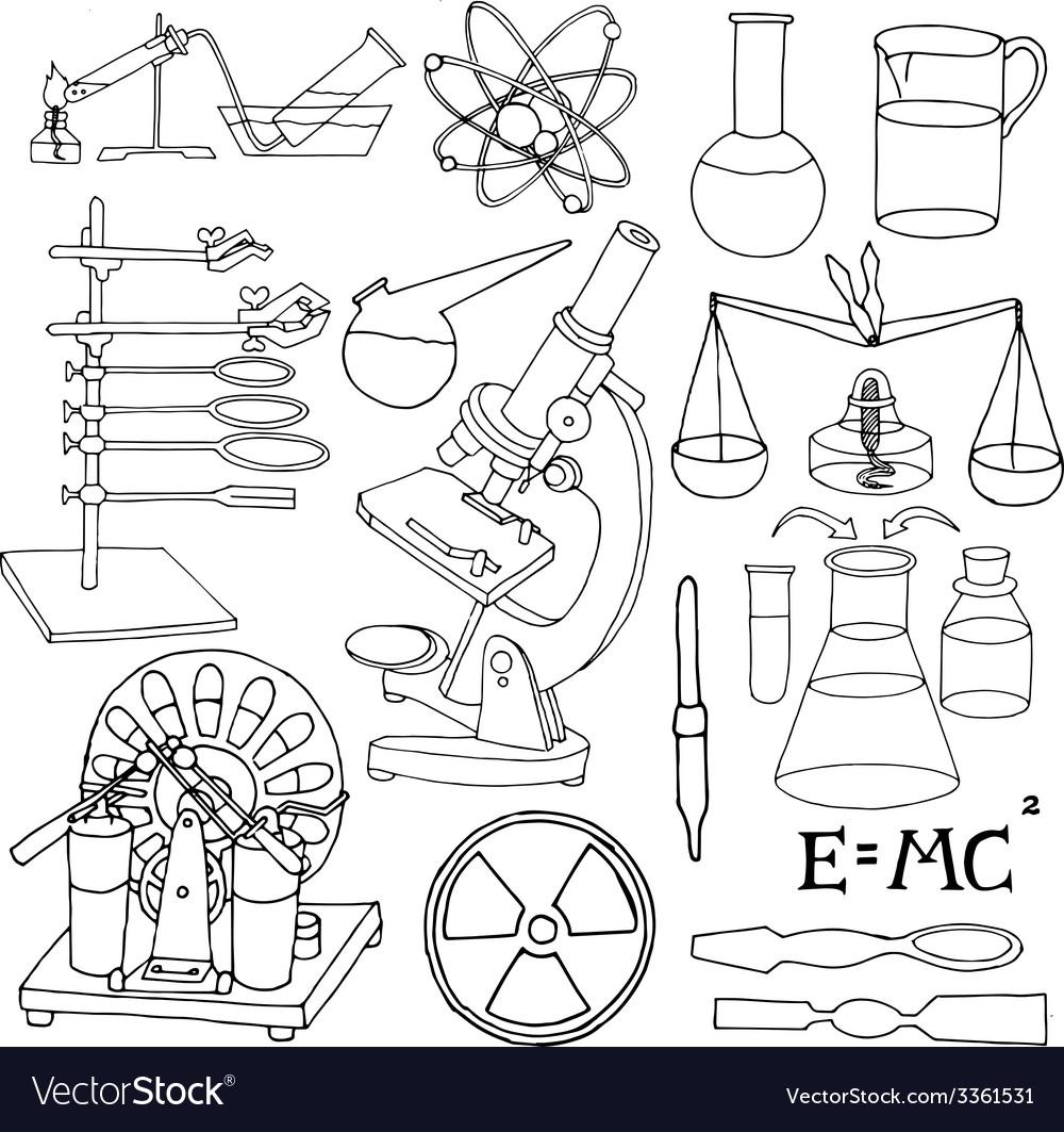 Science sketch icons vector | Price: 1 Credit (USD $1)