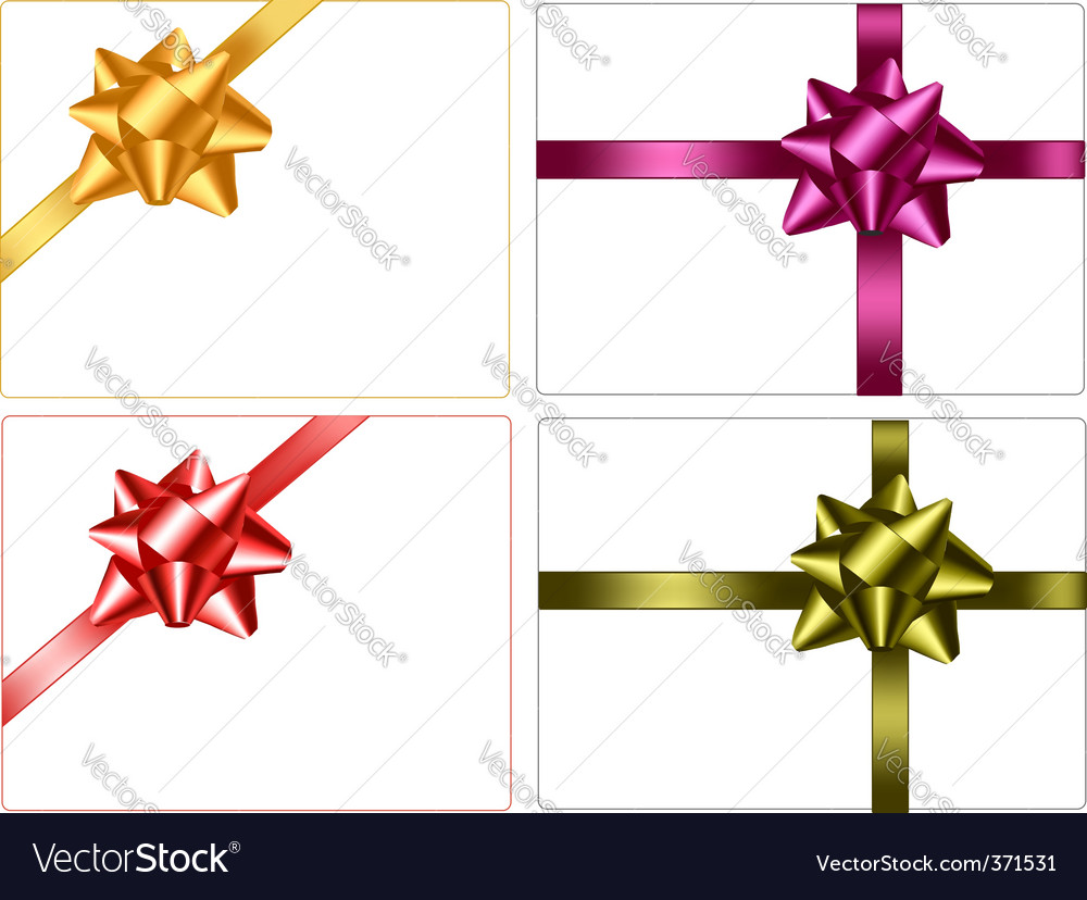 Set of colored bows vector | Price: 1 Credit (USD $1)