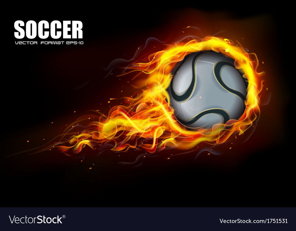 Soccer fire beckground vector | Price: 1 Credit (USD $1)