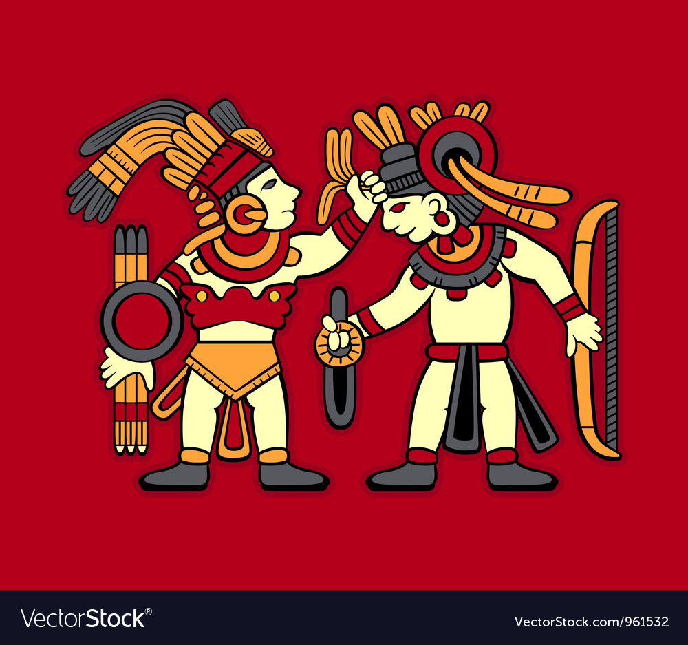 Aztec warriors vector | Price: 1 Credit (USD $1)