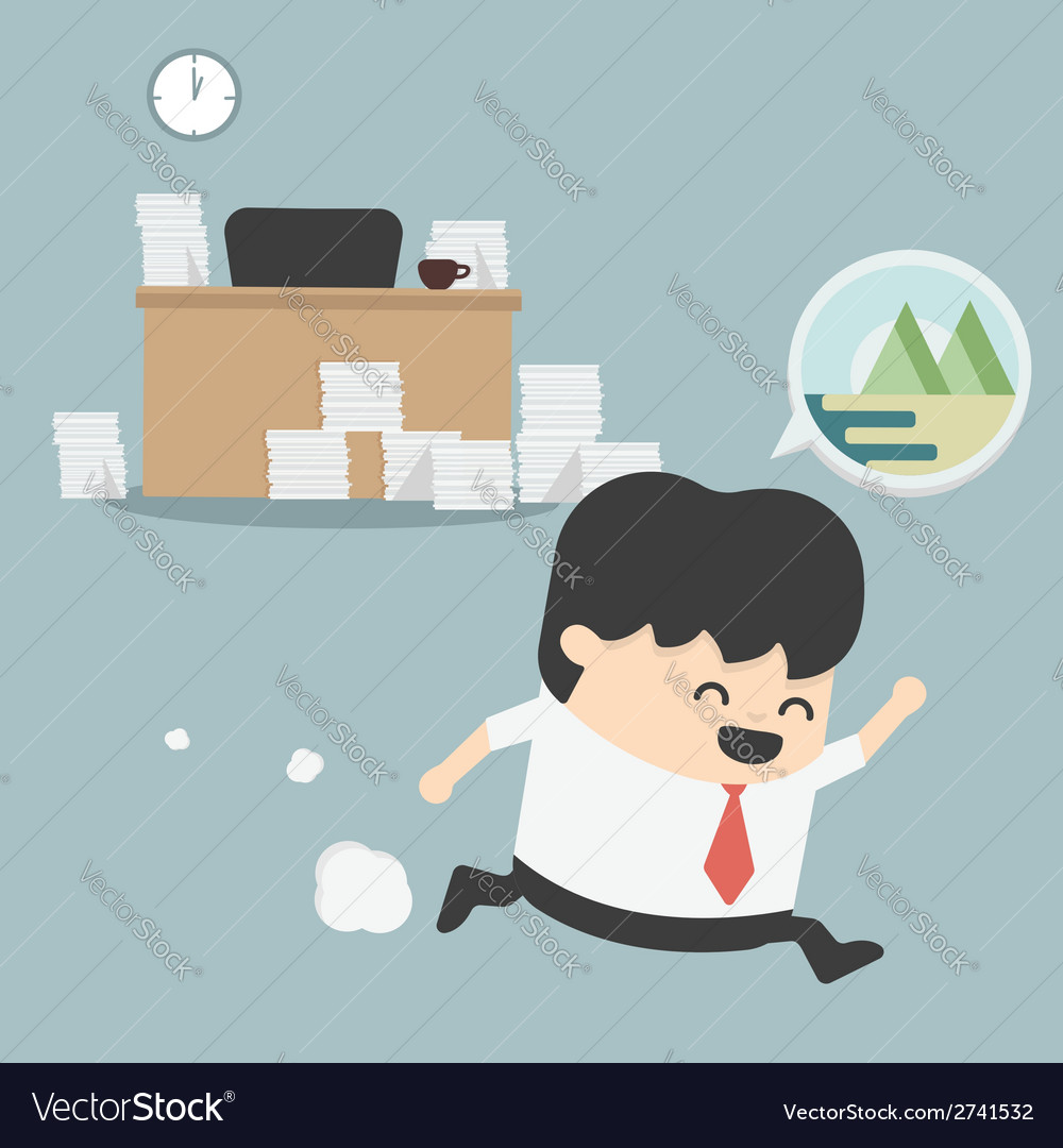 Businessman go vacation vector | Price: 1 Credit (USD $1)