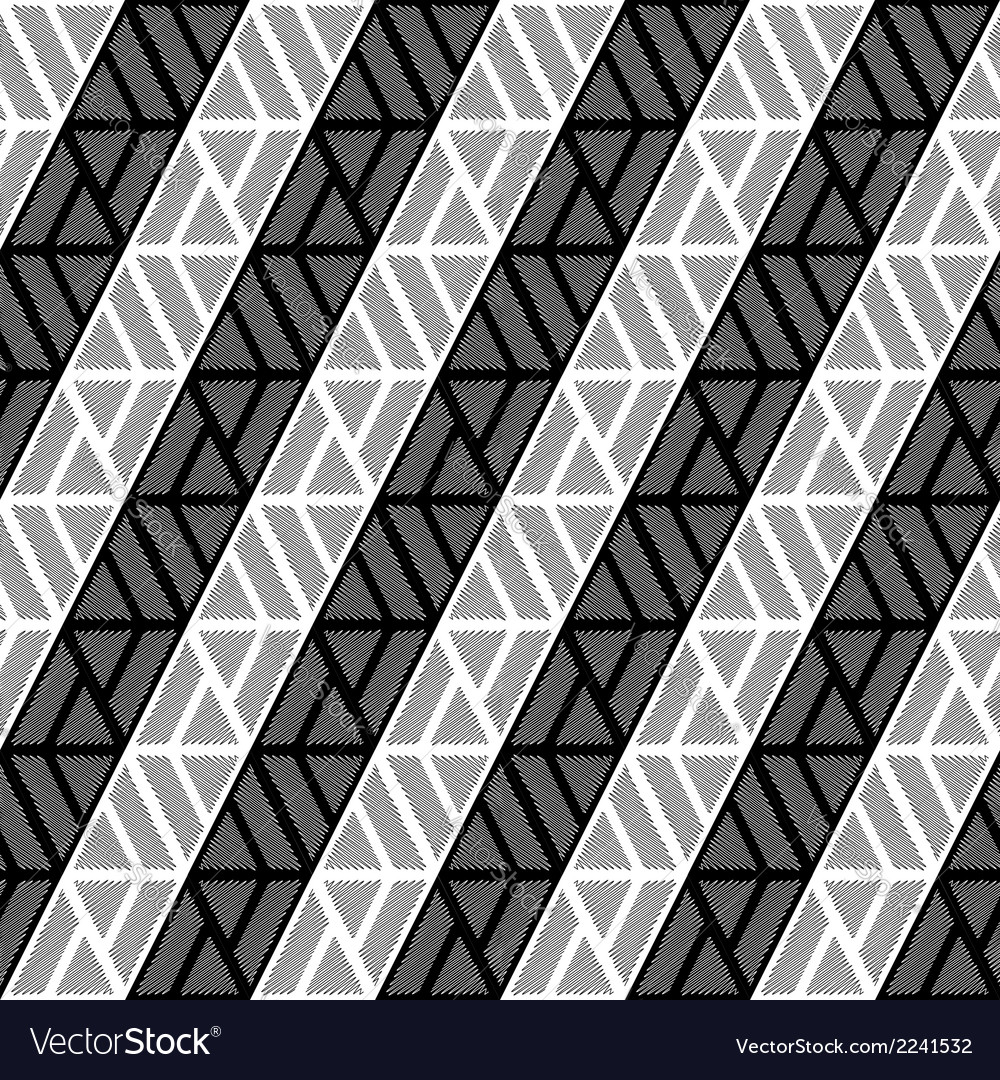 Design seamless monochrome triangle pattern vector | Price: 1 Credit (USD $1)