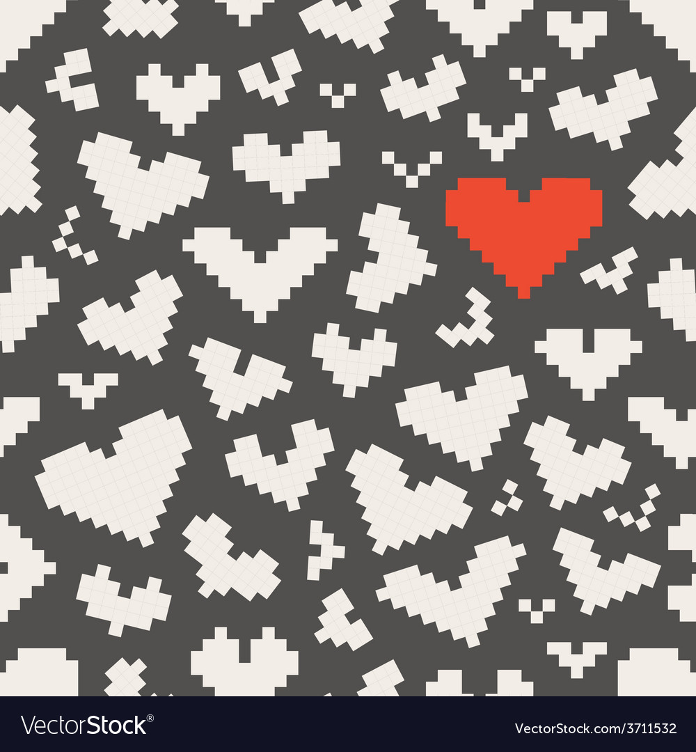 Different abstract heart icons seamless pattern vector | Price: 1 Credit (USD $1)