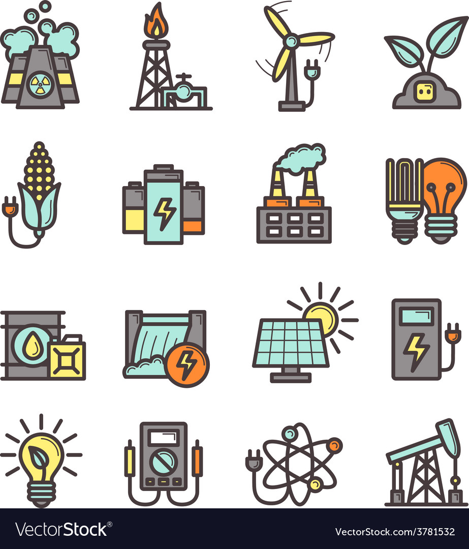 Energy icons set vector   Price: 1 Credit (USD $1)