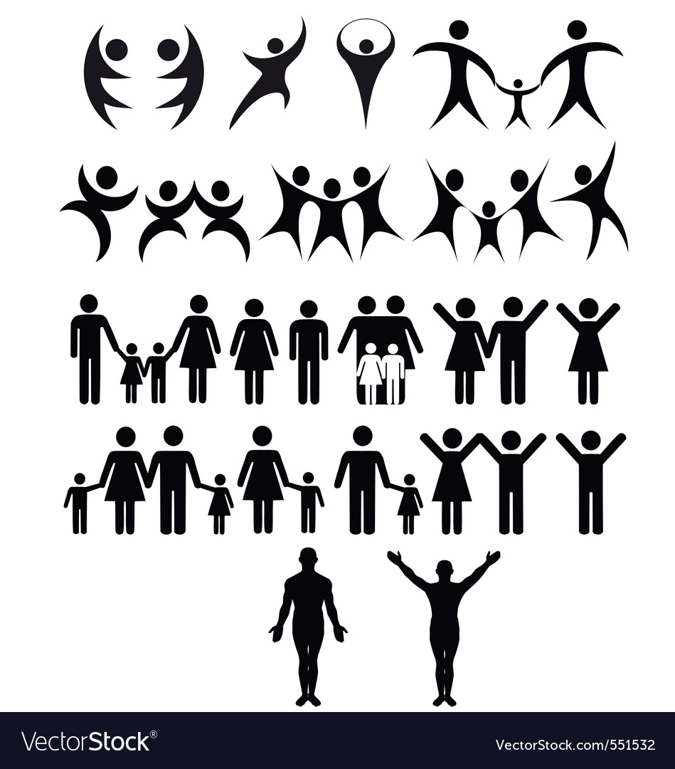 Human symbol vector | Price: 1 Credit (USD $1)