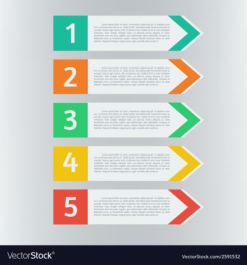 Infographic arrows set vector   Price: 1 Credit (USD $1)
