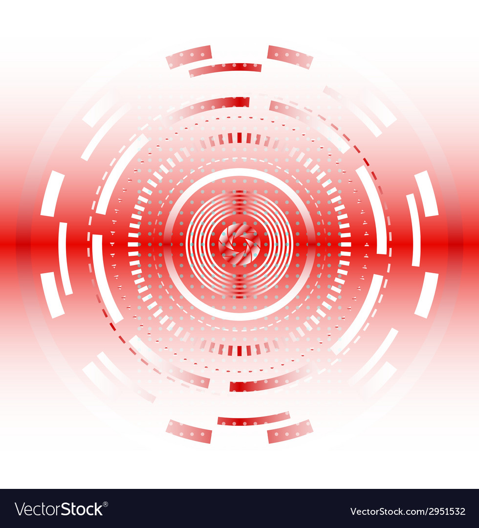 Light red abstract tech circles background design vector