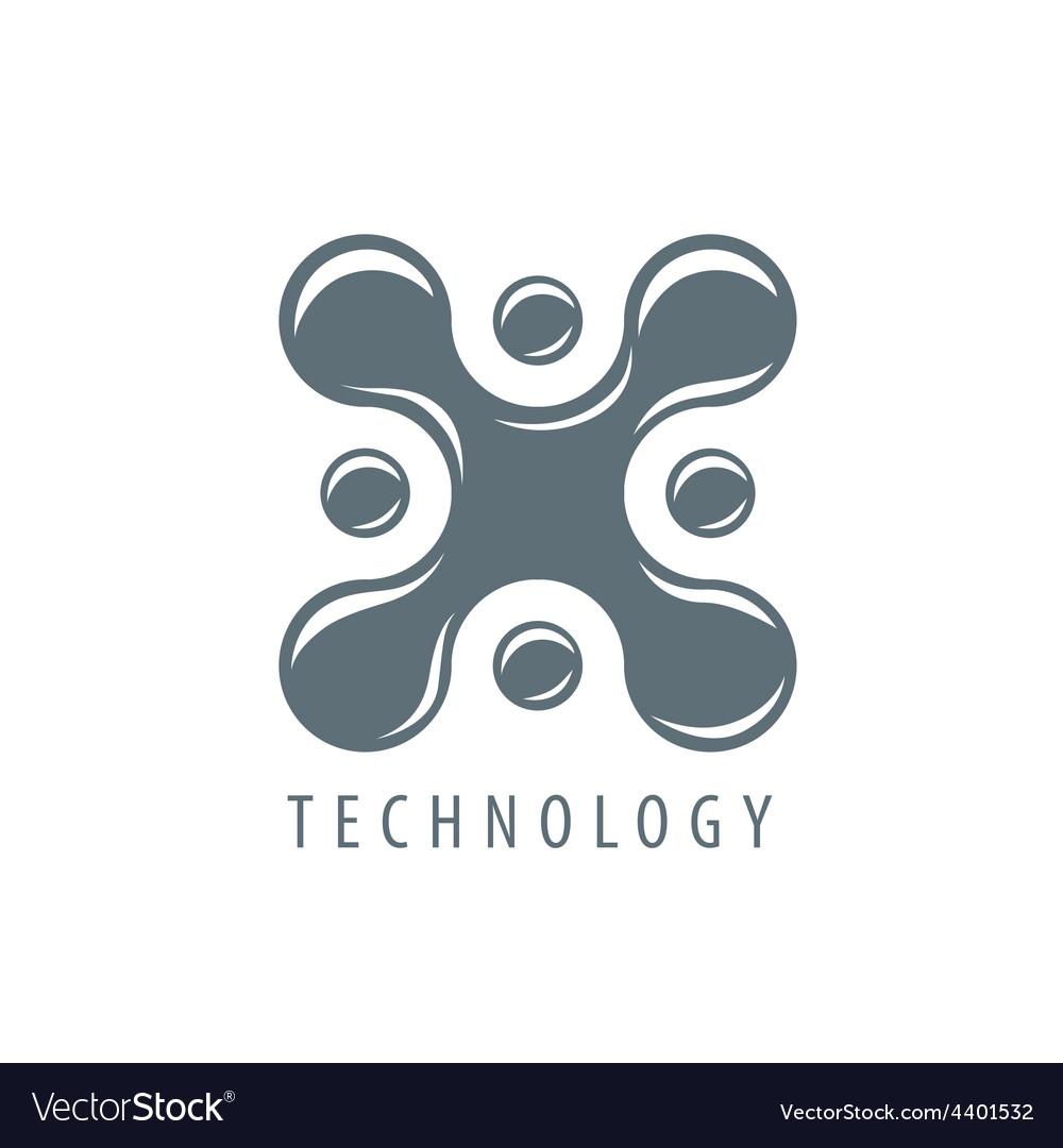 Logo molecular blot in the form x vector | Price: 1 Credit (USD $1)