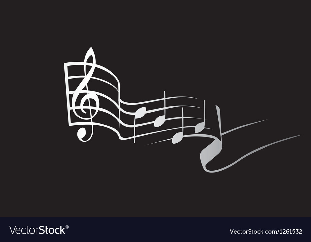 Musical notes vector | Price: 1 Credit (USD $1)
