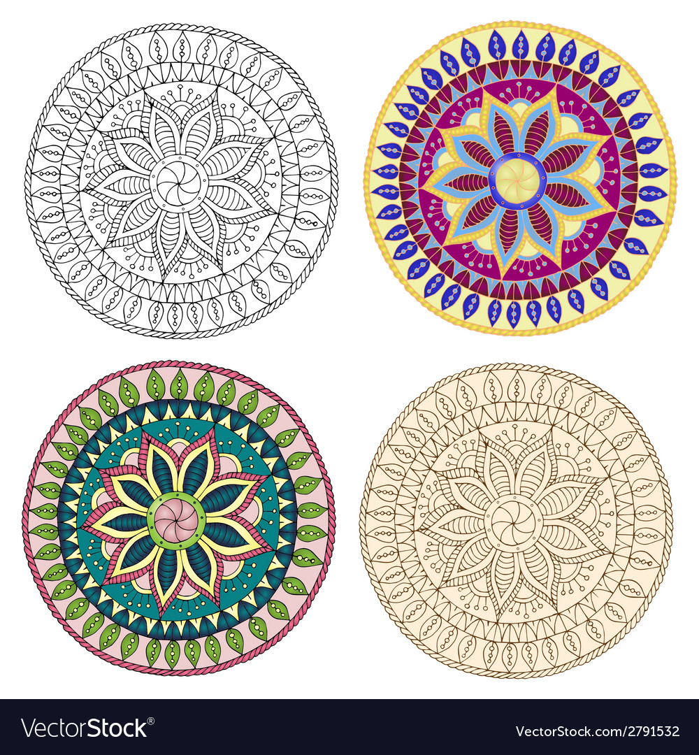 Set of ethnic design elements card design template vector | Price: 1 Credit (USD $1)