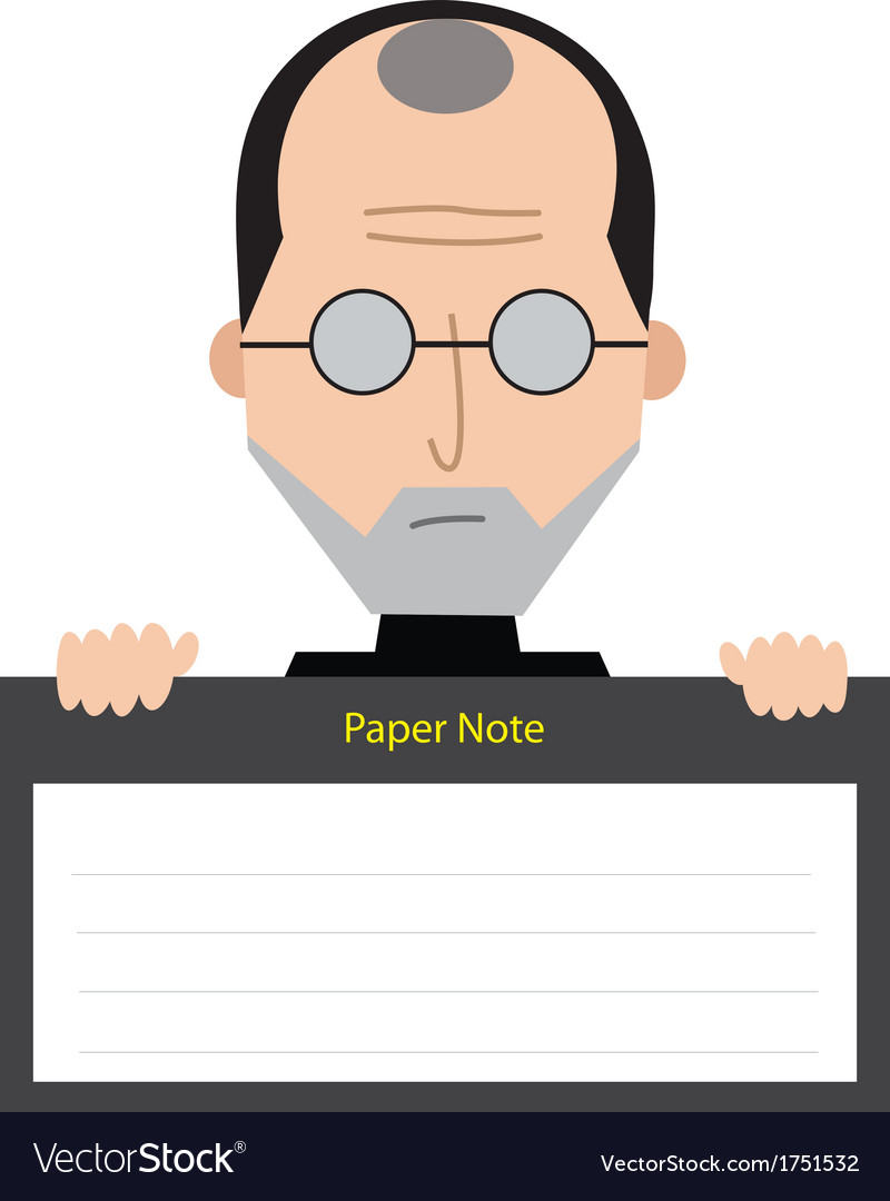 Steve jobs paper note vector | Price: 1 Credit (USD $1)