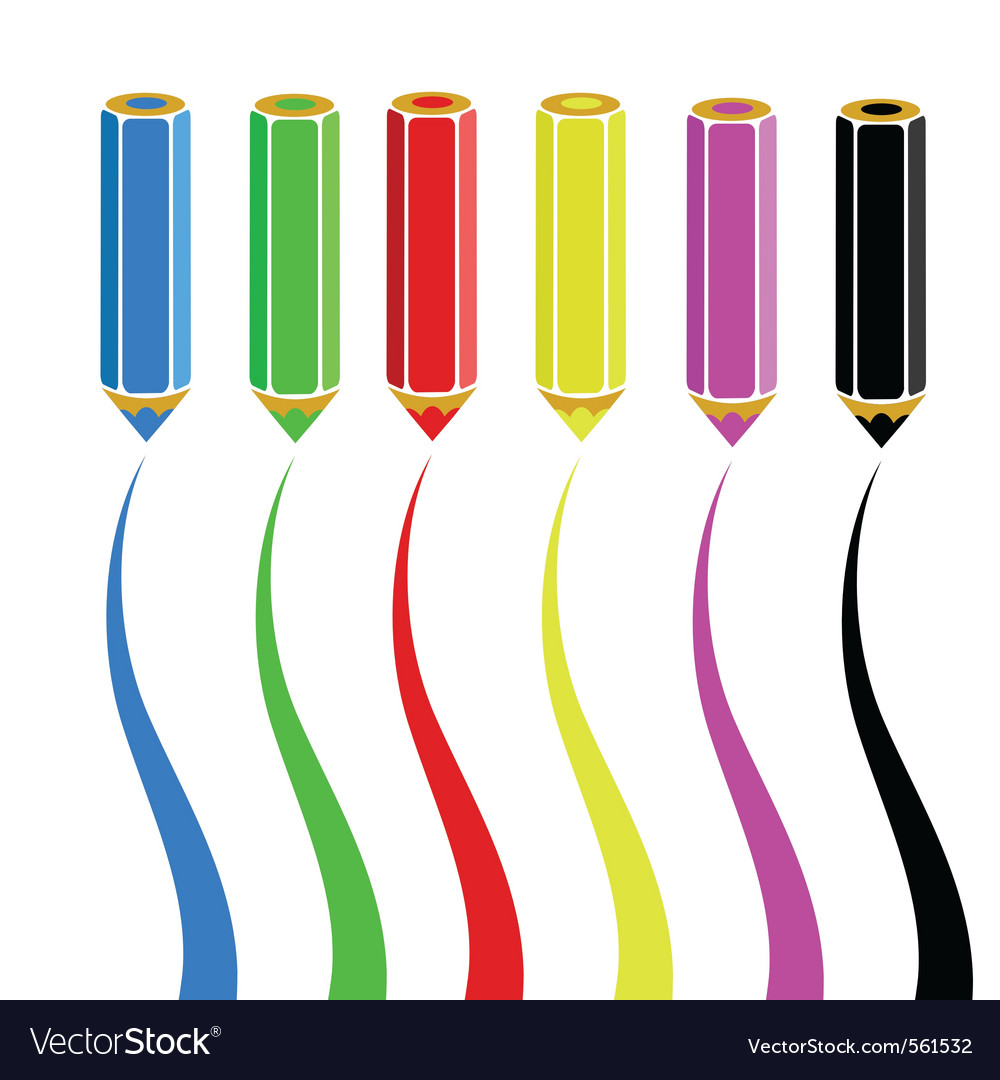 Wooden pencils vector | Price: 1 Credit (USD $1)