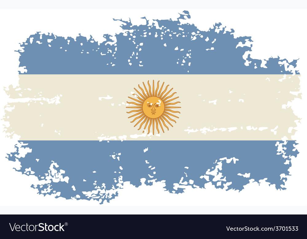 Argentine grunge flag vector | Price: 1 Credit (USD $1)
