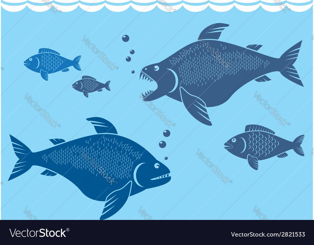 Big fish vector | Price: 1 Credit (USD $1)
