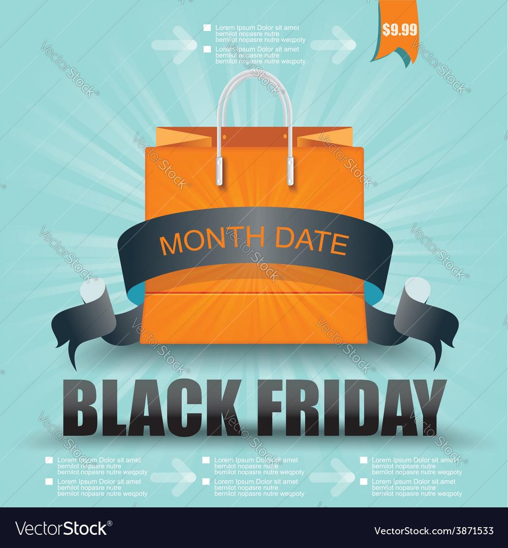 Black friday sale design eps10 vector | Price: 1 Credit (USD $1)