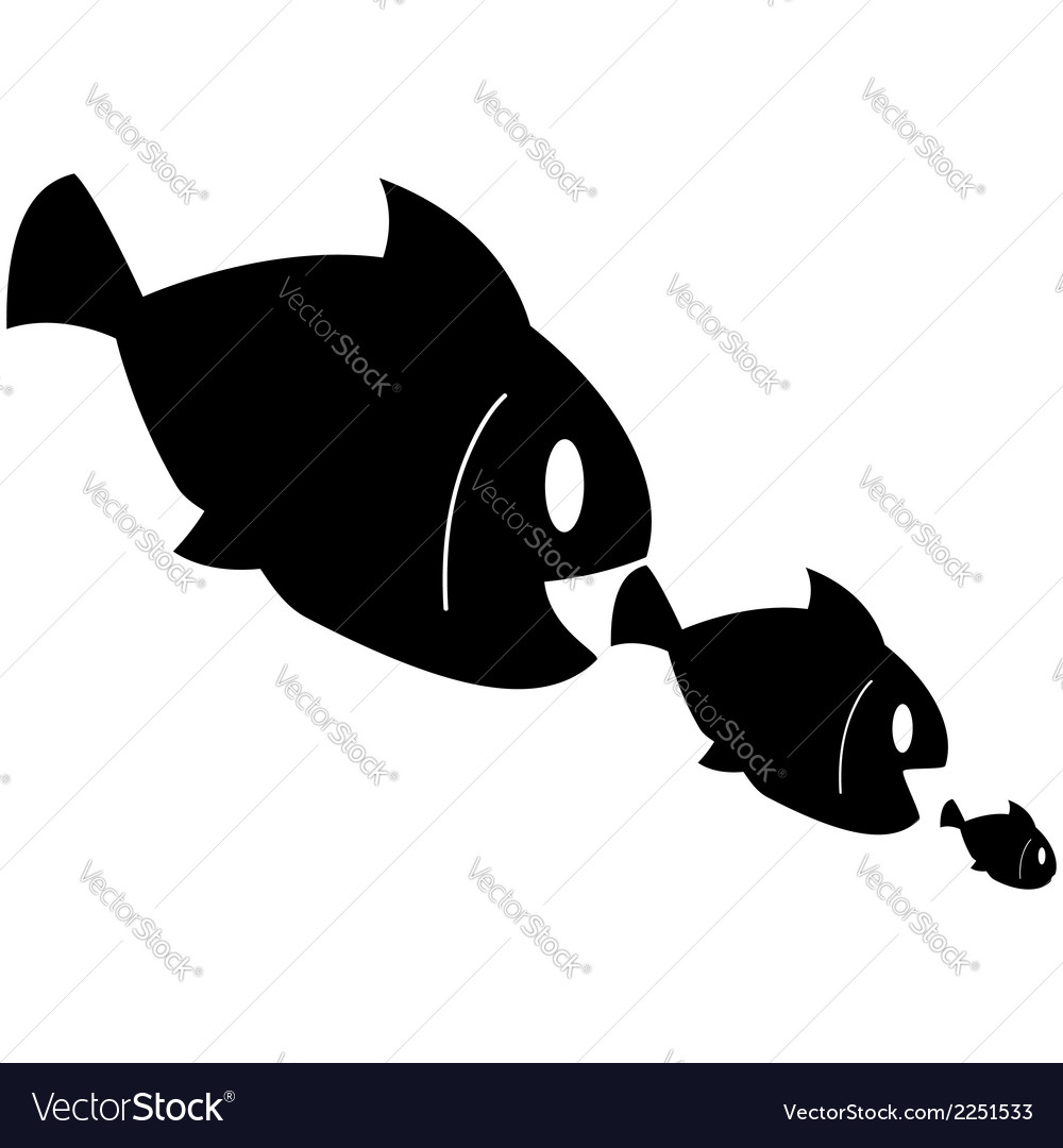 Fish eats fish vector | Price: 1 Credit (USD $1)