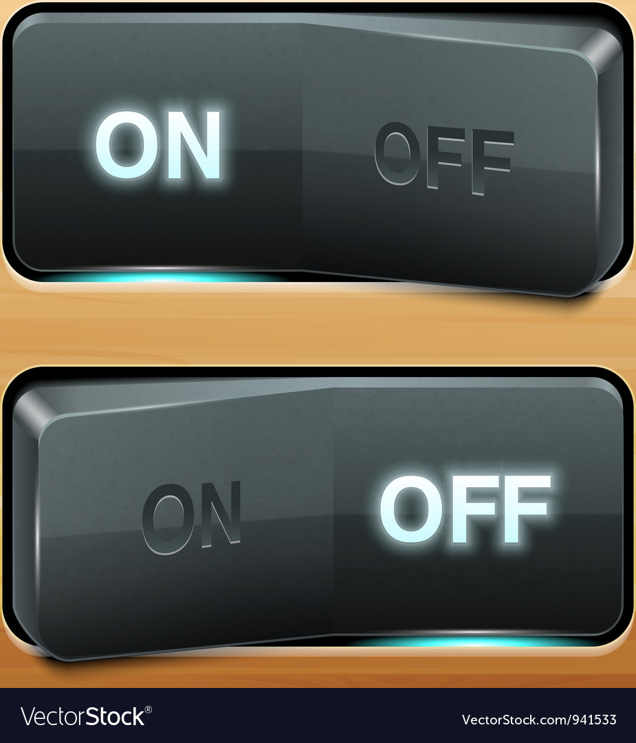 Realistic switch vector | Price: 3 Credit (USD $3)
