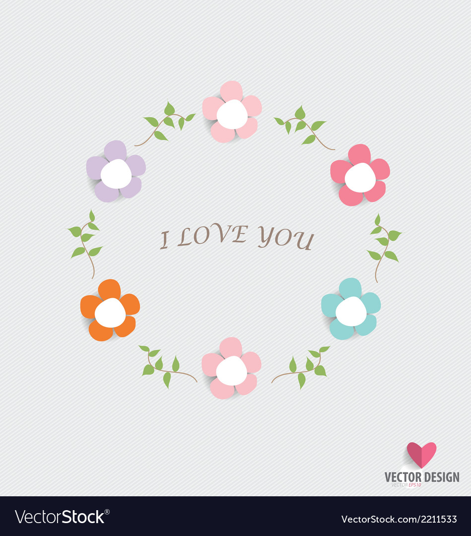 Romantic card spring floral design element vector | Price: 1 Credit (USD $1)