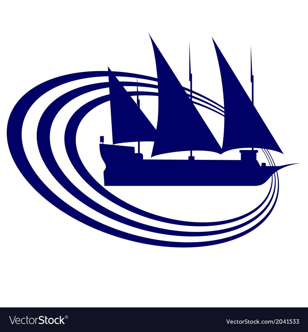 Sailing ship 1 vector | Price: 1 Credit (USD $1)