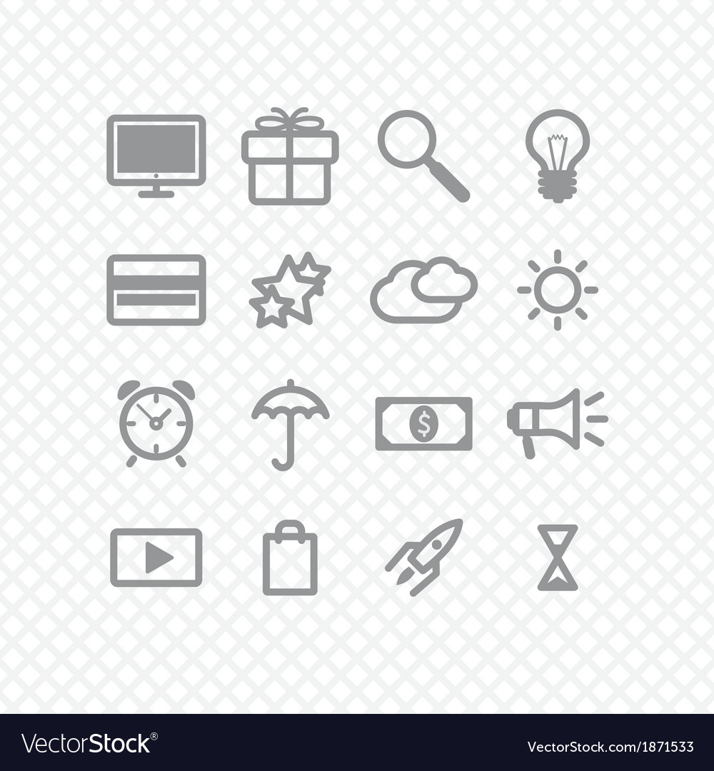 Set icons vector | Price: 1 Credit (USD $1)