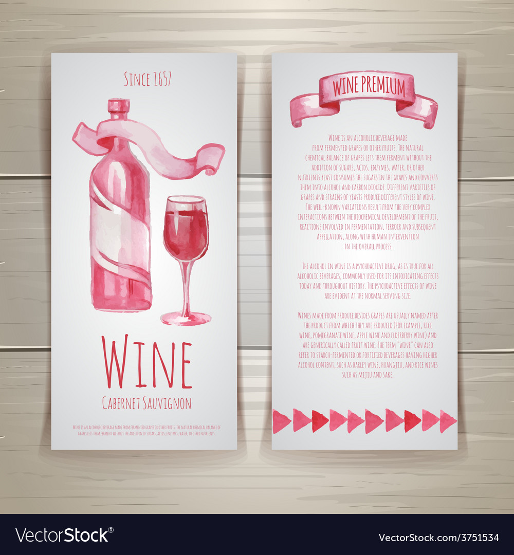 Art wine cards and labels design vector | Price: 1 Credit (USD $1)