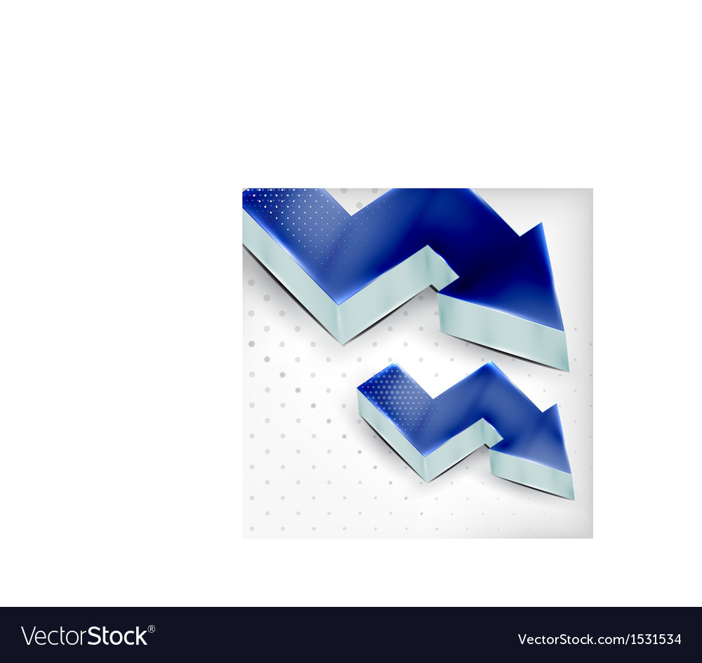 Blue 3d arrow background vector | Price: 1 Credit (USD $1)