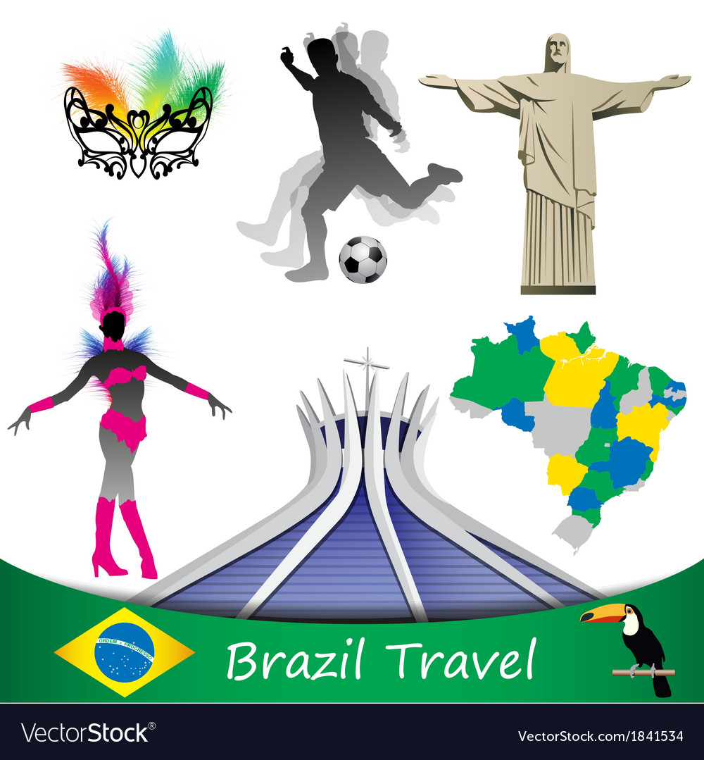 Brazil travel vector | Price: 1 Credit (USD $1)