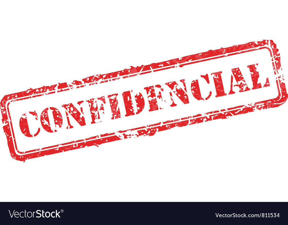 Confidential rubber stamp vector | Price: 1 Credit (USD $1)